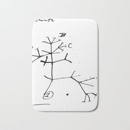 Darwin tree of life evolution science shirt Biology Nerdy Bath Mat