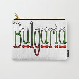 Bulgaria Font #1 with Bulgarian Flag Carry-All Pouch