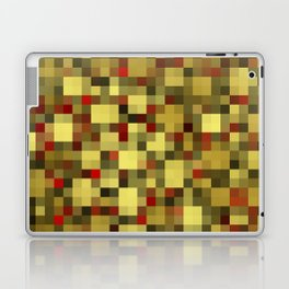 checkered shiny chic, elegant in gold,red and black Laptop & iPad Skin