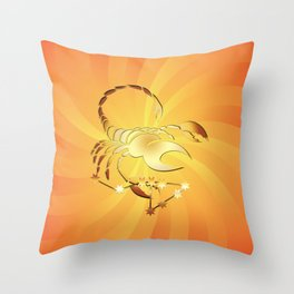 Sternzeichen Skorpion Throw Pillow