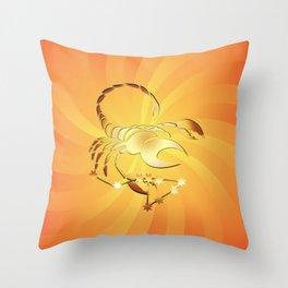Sternzeichen Skorpion Throw Pillow