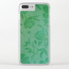 beautiful green flowers Clear iPhone Case
