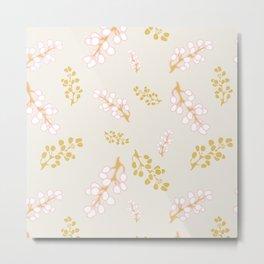 Garden Swirl Collection - Pink & Yellow Bouquet Bits Metal Print