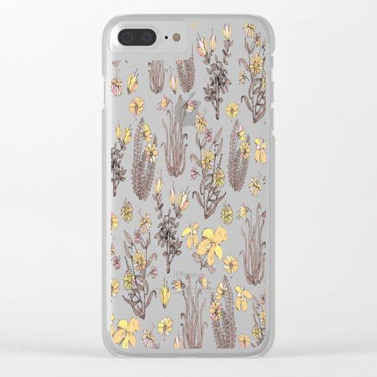 yellow garden Clear iPhone Case