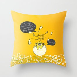 #Hatched Throw Pillow
