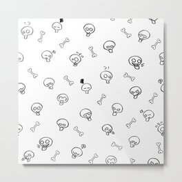 Expressive Skulls Metal Print