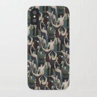 concert iPhone & iPod Cases featuring Concert pattern by David van der Veen