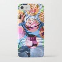 dbz iPhone & iPod Cases featuring DBZ - Goku by Mr. Stonebanks