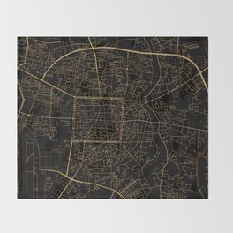Chiang Mai map, Thailand Throw Blanket