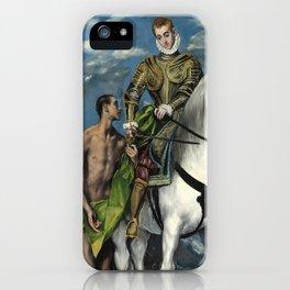 "El Greco (Domenikos Theotokopoulos) ""Saint Martin and the Beggar"" iPhone Case"