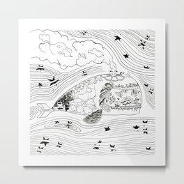 Wanderlust Series - Whale Metal Print