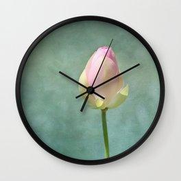 Lotus Flower Bud Wall Clock