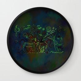 Ritual gathering 2 Wall Clock