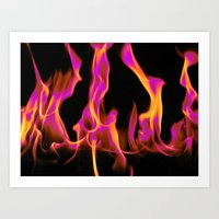 hot pink Art Prints featuring Hot Pink! by Firefly Creative Designs