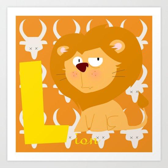 l for lion Art Print