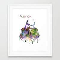 kubrick Framed Art Prints featuring Kubrick by Zoé Rikardo