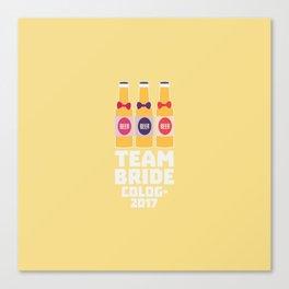 Team Bride Cologne 2017 T-Shirt Dpn32 Canvas Print