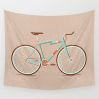 bicycle Wall Tapestries featuring Bicycle by Daniel Mackey