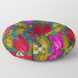 Fantasy Garden In Contemplation Floor Pillow