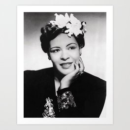 Billie Holiday - Black Culture - Black History Art Print