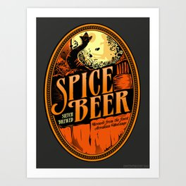 Spice Beer Label Art Print