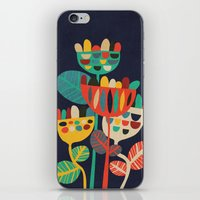 leaves iPhone & iPod Skins featuring Wild Flowers by Picomodi
