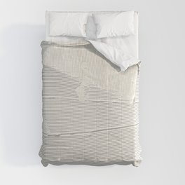 Relief [1]: an abstract, textured piece in white by Alyssa Hamilton Art Comforters