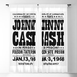 1968 Folsom State Prison Johnny Cash Vintage Tour Poster Blackout Curtain