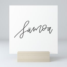 Samoa Calligraphy Mini Art Print