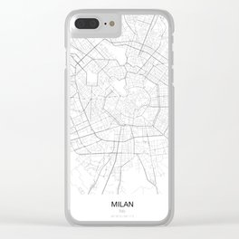 Milan, Italy Minimalist Map Clear iPhone Case