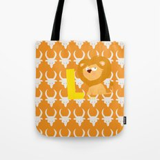 l for lion Tote Bag