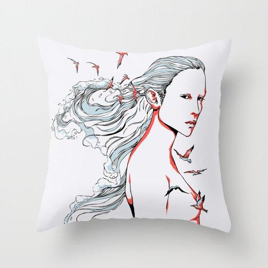 Queen of Ocean Throw Pillow