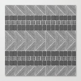 Black and White Line Art Canvas Print