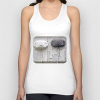 the wire Tank Tops featuring Wire Covers by Ethna Gillespie
