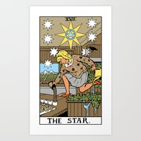 martell Art Prints featuring XVII-The Star by Benjamin Mackey