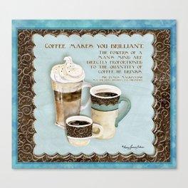 Coffee & Chocolate Java Latte Espresso Kitchen Canvas Print