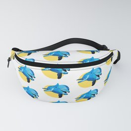 Poly Dolphin Fanny Pack
