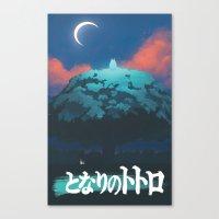ghibli Canvas Prints featuring Ghibli print    by pHoran