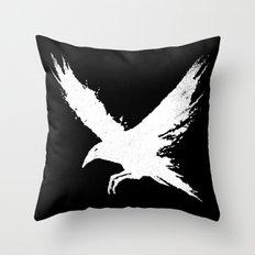 The Raven (Black Version) Throw Pillow