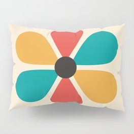 Mid Century Flower Pillow Sham