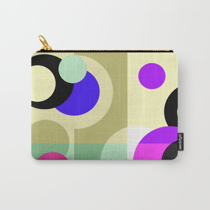 Colorful geometric pattern with polka dots . Carry-All Pouch