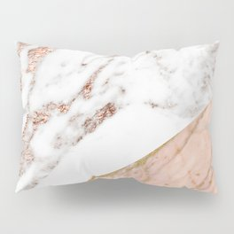 Marble rose gold blended Pillow Sham