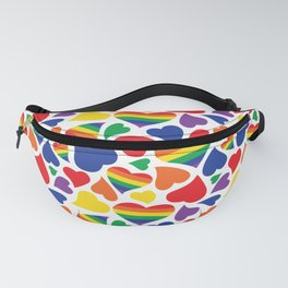 Retro Rainbow LGBT Pride Hearts Fanny Pack