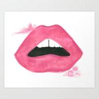Read My Lips Art Print