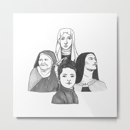 Women Doctors of the Church Metal Print