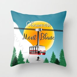 Mont Blanc Chamonix Throw Pillow