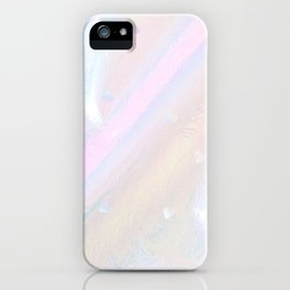 IRIDESCENT WHITE HEARTS iPhone Case