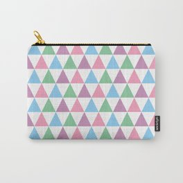 Pastel Retro Triangle Pattern Carry-All Pouch