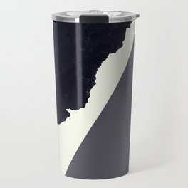 Contemporary Minimalistic Black and White Art Travel Mug