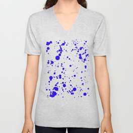 310001 Blue and Yellow Painting Unisex V-Neck
